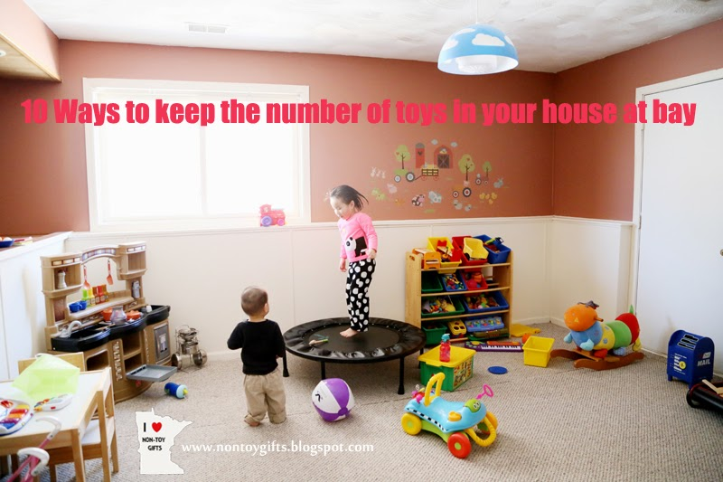 10 Ways to keep the number of toys in your house at bay