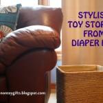 Stylish Toy Storage from Diaper Box