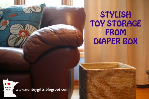 Stylish Toy Storage from Diaper Box
