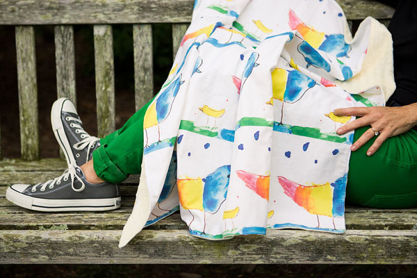 Turn kids artwork into gifts: blanket