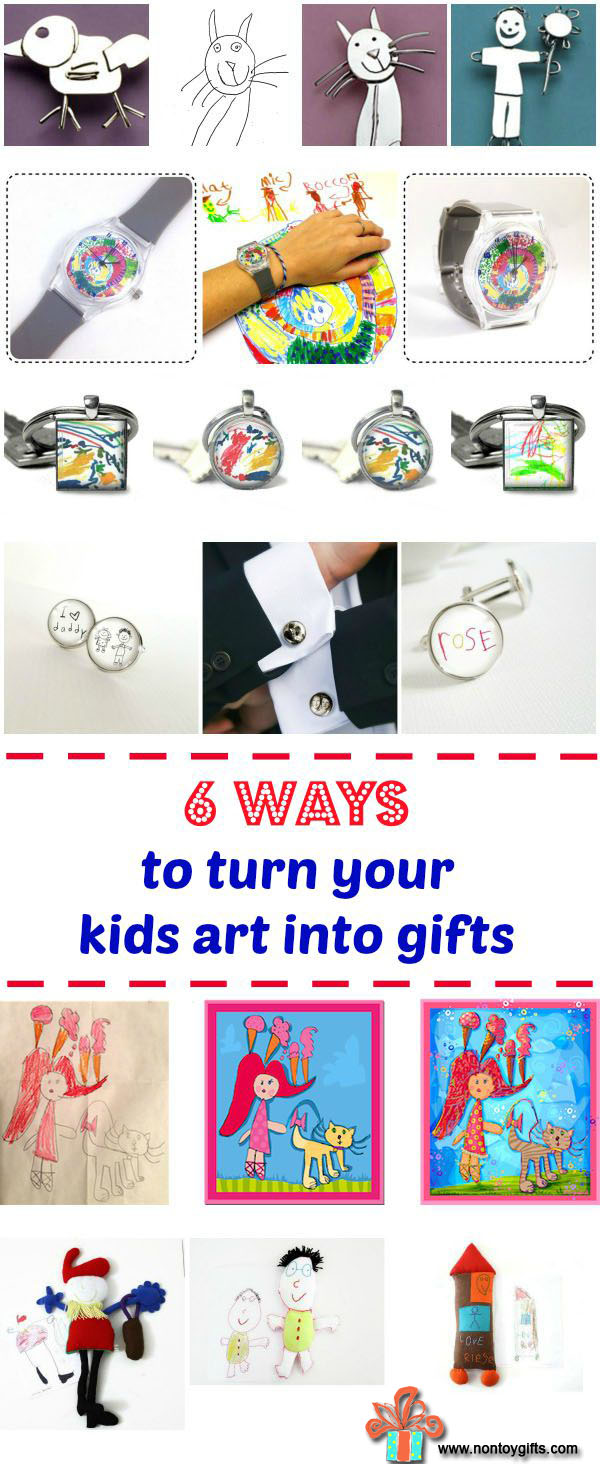6 Ways to Turn Your Kids Art into Gifts - at Non Toy Gifts