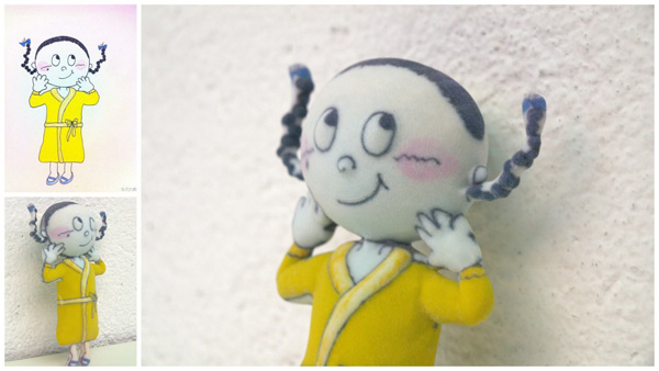 Turn kids artwork into gifts: crayon figurines