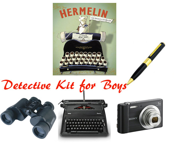 DIY detective kit for boys. Gift idea based on a great book. | at Non Toy Gifts