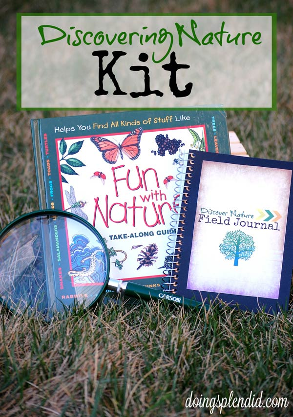 Nature Explorer Kit. Explore the great outdoors or your own backyard with a notebook, an awesome book and magnifying glasses. DIY gift idea. Great camping activity or use it for nature walks. | at Non Toy Gifts