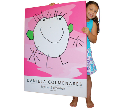 Turn kids artwork into gifts: wall art