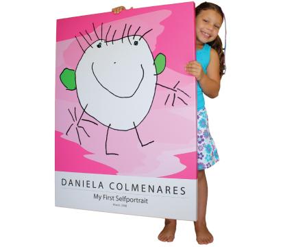 Turn kids artwork into gifts: wall art