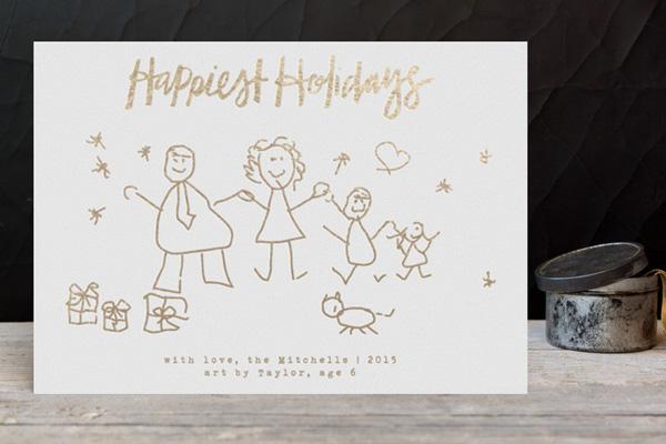 Turn kids artwork into gifts: holiday cards