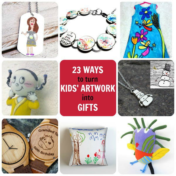 23 ways to turn your kids artwork into gifts