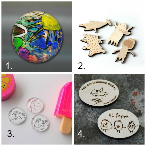 Turn kids artwork into gifts: magnets