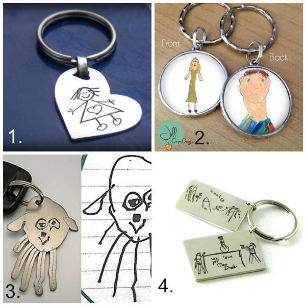 Turn kids artwork into gifts: keychain