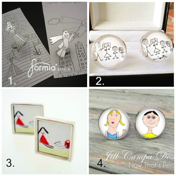 Turn kids artwork into gifts: cufflinks