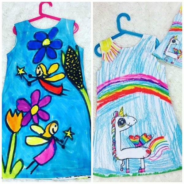 Turn kids artwork into gifts: dresses