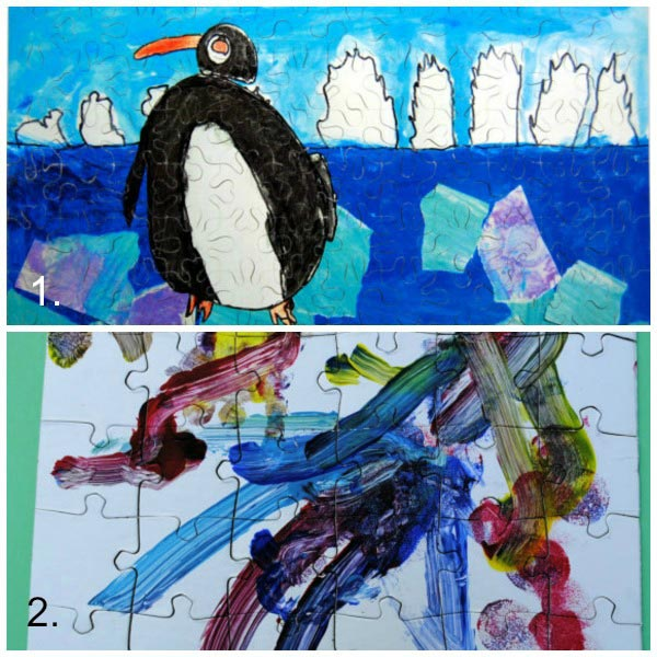 Turn kids artwork into gifts: puzzles