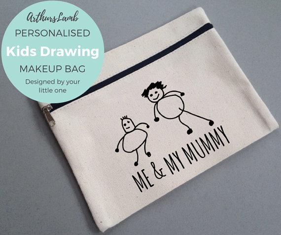 Turn kids artwork into gifts: makeup bag