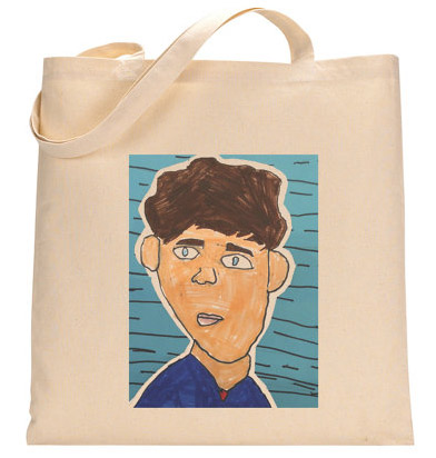 Turn kids artwork into gifts: tote bag