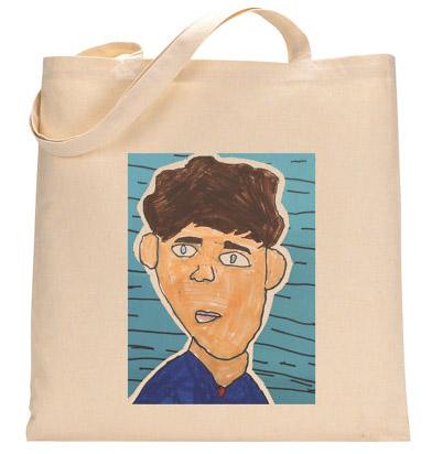 Turn kids artwork into gifts: tote bag