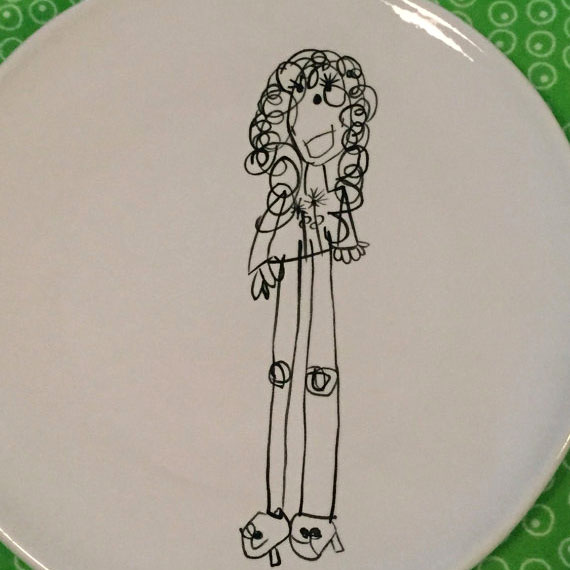 Turn kids artwork into gifts: plates