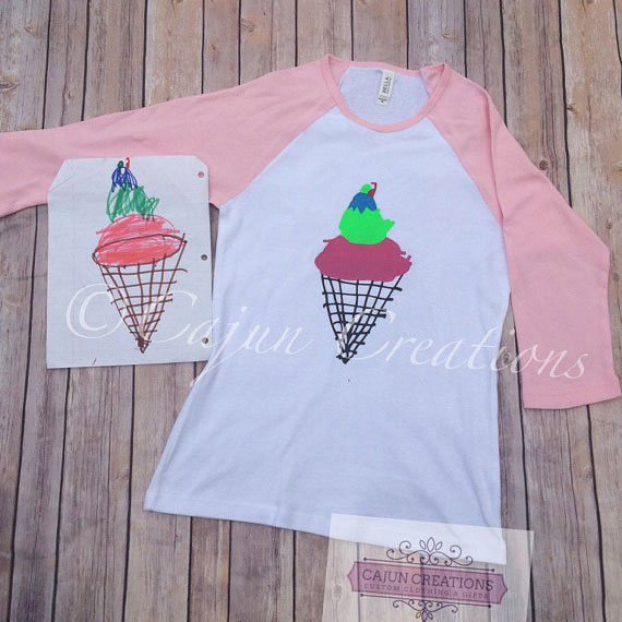 Turn kids artwork into gifts: t-shirts