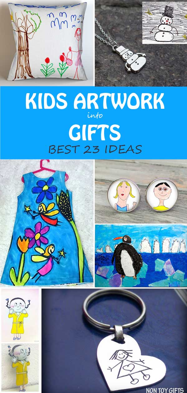 23 ways to turn kids artwork into gifts the best gifts you can make