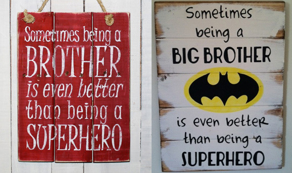 Best 12 big brother gifts from baby: big brother wooden signs