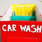 DIY cardboard car wash