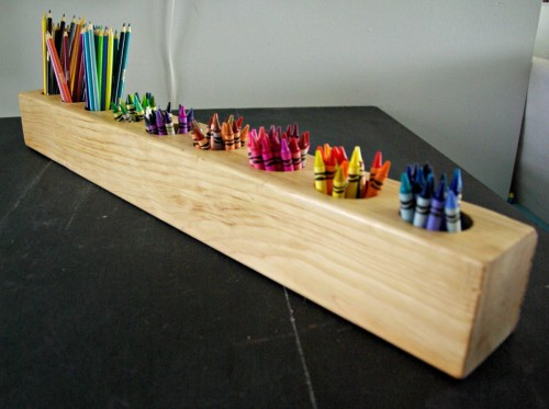 Wall Art Supply Holder : Diy pencil crayon holders non toy gifts