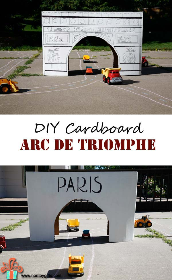 Laugh & Learn Linkup: DIY CARDBOARD ARC DE TRIOMPHE