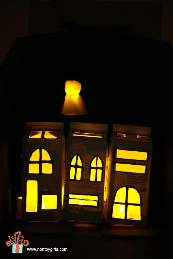 Cardboard Halloween Town
