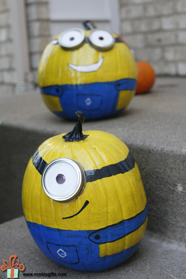 Halloween Painted Pumpkins - Minions - at Non Toy Gifts