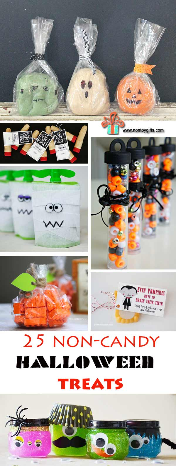25 Non-Candy Halloween treats to make for kids. Classroom Halloween treats | at Non Toy Gifts