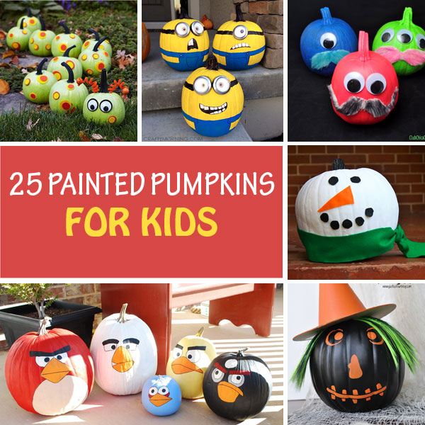 25 painted pumpkins for kids to try this Halloween