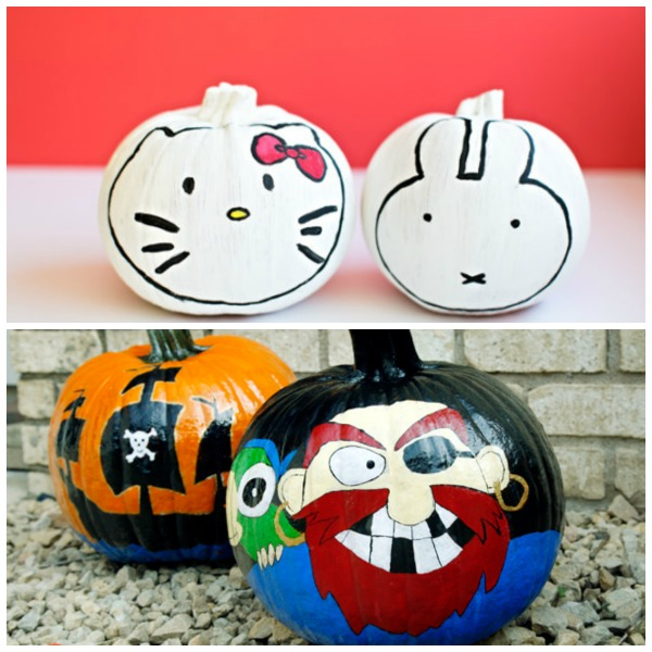 25 painted pumpkins for kids. Looking for carving alternative this Halloween?