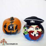 Pirate Pumpkins & How to Paint Pumpkins