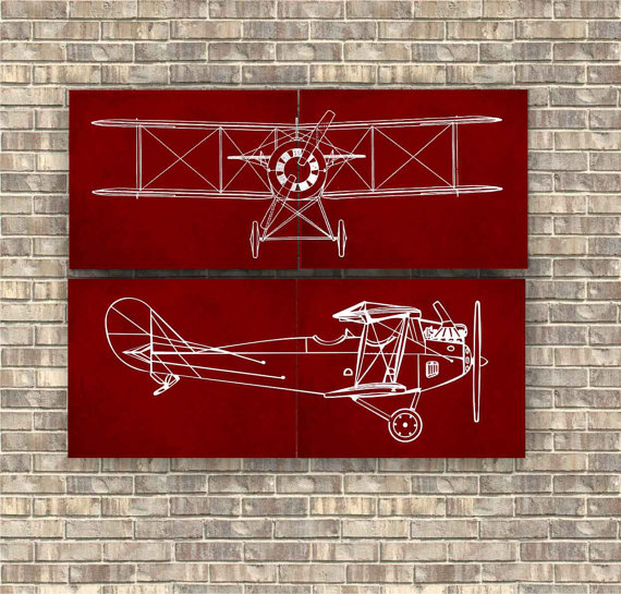 Have fun decorating with airplanes! Perfect for an aviation / travel nursery or kid's bedroom - at Non Toy Gifts