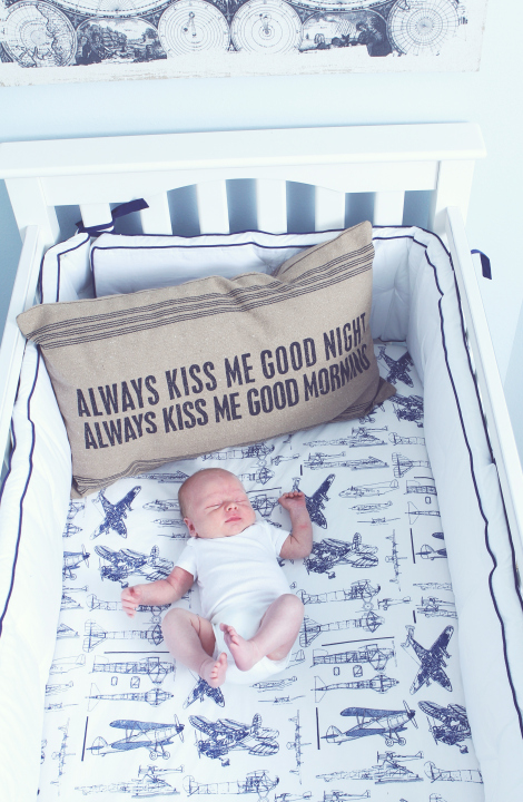 Decorating with airplanes non toy gifts - Airplane baby bedding sets ...