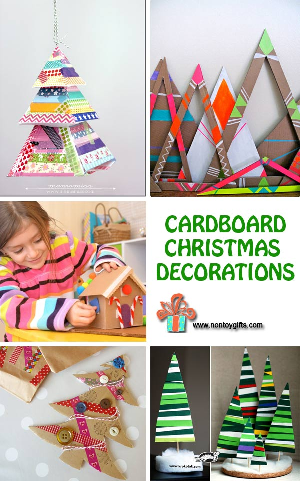 cardboard christmas decorations at non toy gifts - Cardboard Christmas Decorations