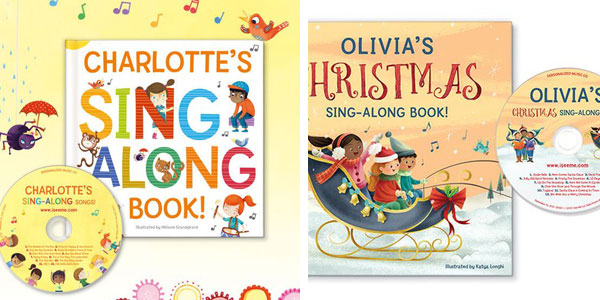 Personalized gifts for kids: books and sing along CDs
