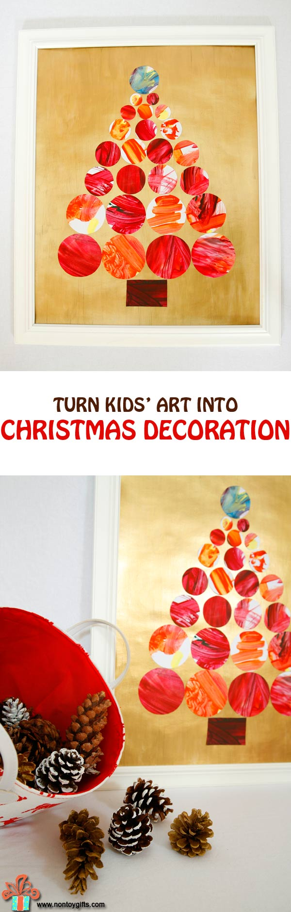 Kids' Art into Christmas Decoration - at Non Toy Gifts