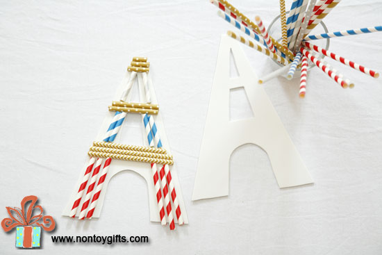 Kid Made Christmas Ornaments : The Eiffel Tower - at Non Toy Gifts