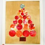 Kids' Art into Christmas Decoration