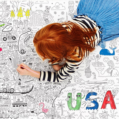 Giant Coloring Map of America