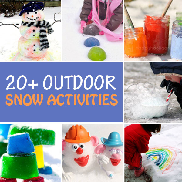Outdoor winter snow activities for kids