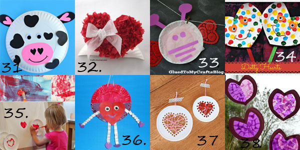 Valentine paper plate crafts for preschoolers
