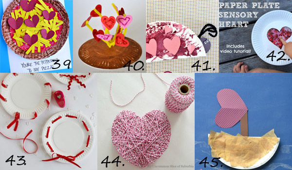 Valentine paper plate crafts for toddlers