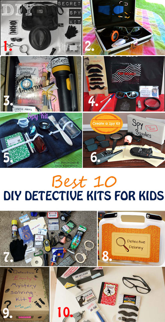 Learn what it takes to be a special agent and solve mysteries. Best 10 detective kits for kids for play, party favors or DIY gifts. Fun an educational activities for kids | at Non Toy Gifts