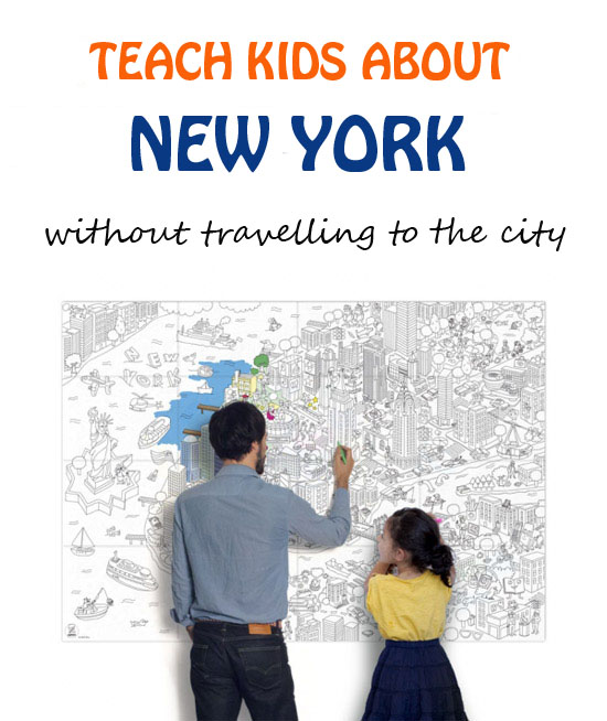 Explore New York with kids: color giant maps, play fun games or take a virtual tour to the Big Apple. Fun activities for kids of all ages. | at Non Toy Gifts