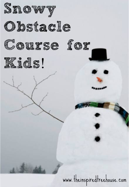 Make a snowy obstacle course - one of the 20 outdoor snow activities for kids. Be prepared for that snowy day when school is off and kids want to go outside and play. This list of snow and ice activities for kids of all ages is just what you need for any winter day. | at Non Toy Gifts