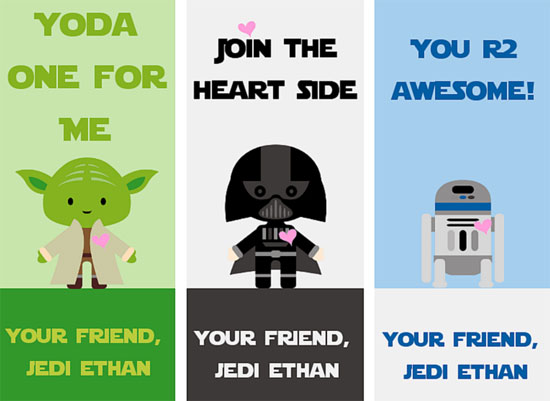 30 Star Wars Valentines Printables