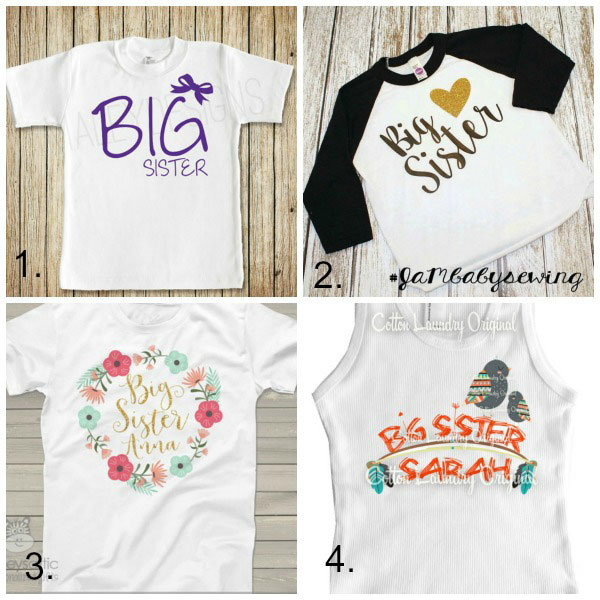 Big sister gifts from baby: shirts