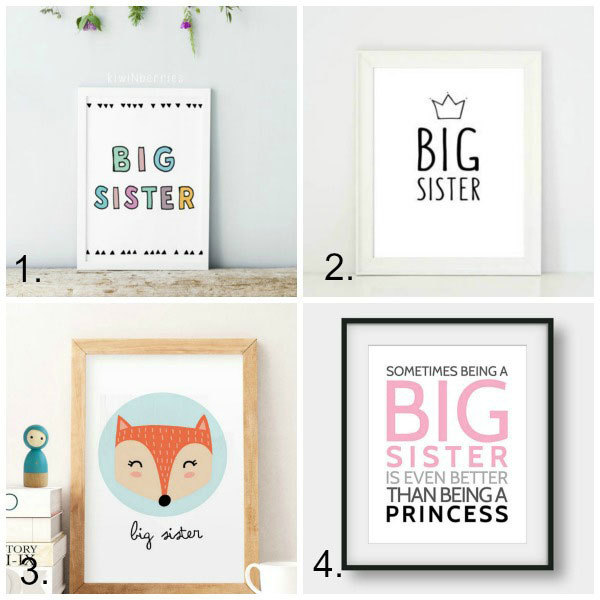 Big sister gift ideas: art print